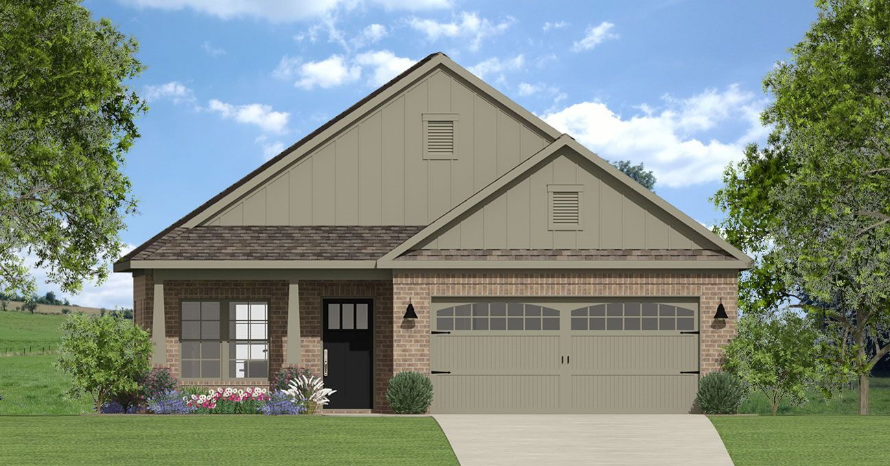 Rendering of a new cottage home offered by Breland Homes