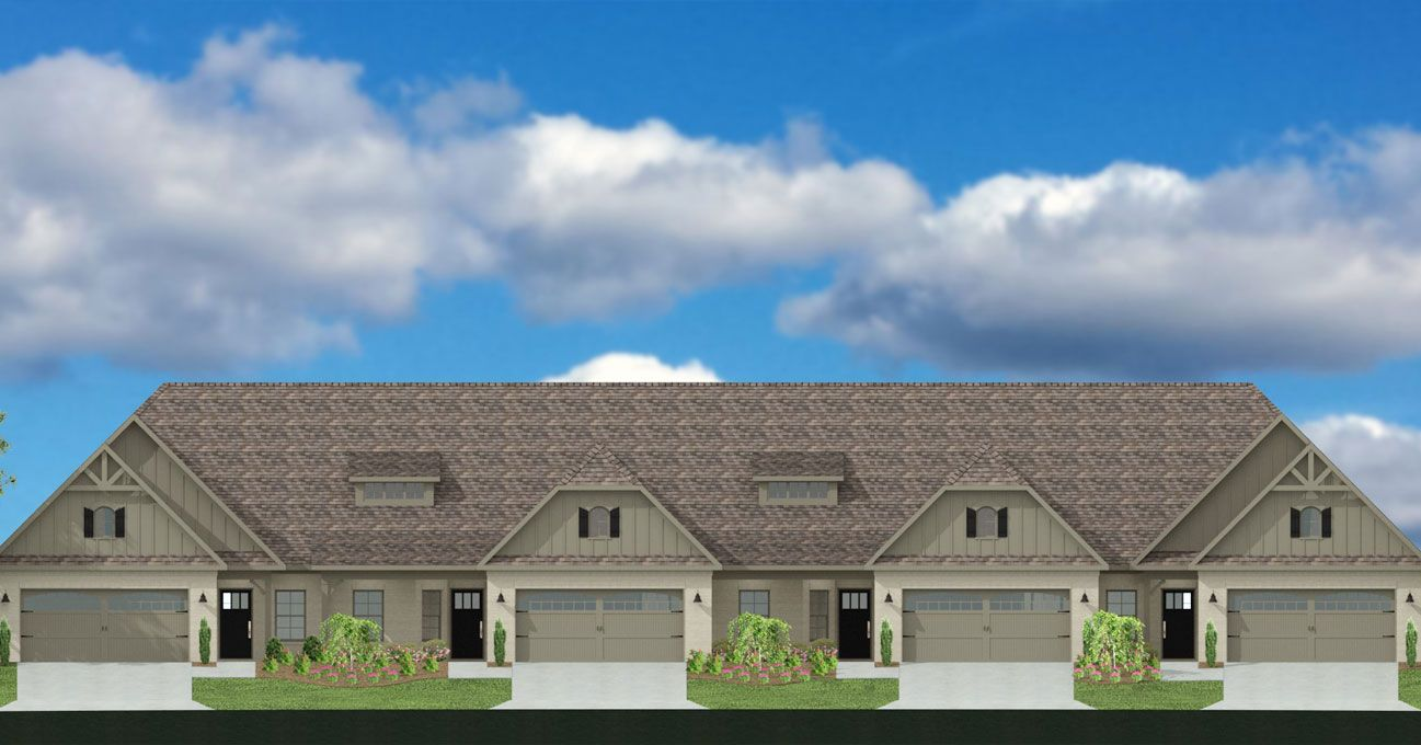 Rendering of new townhomes built by Breland Homes